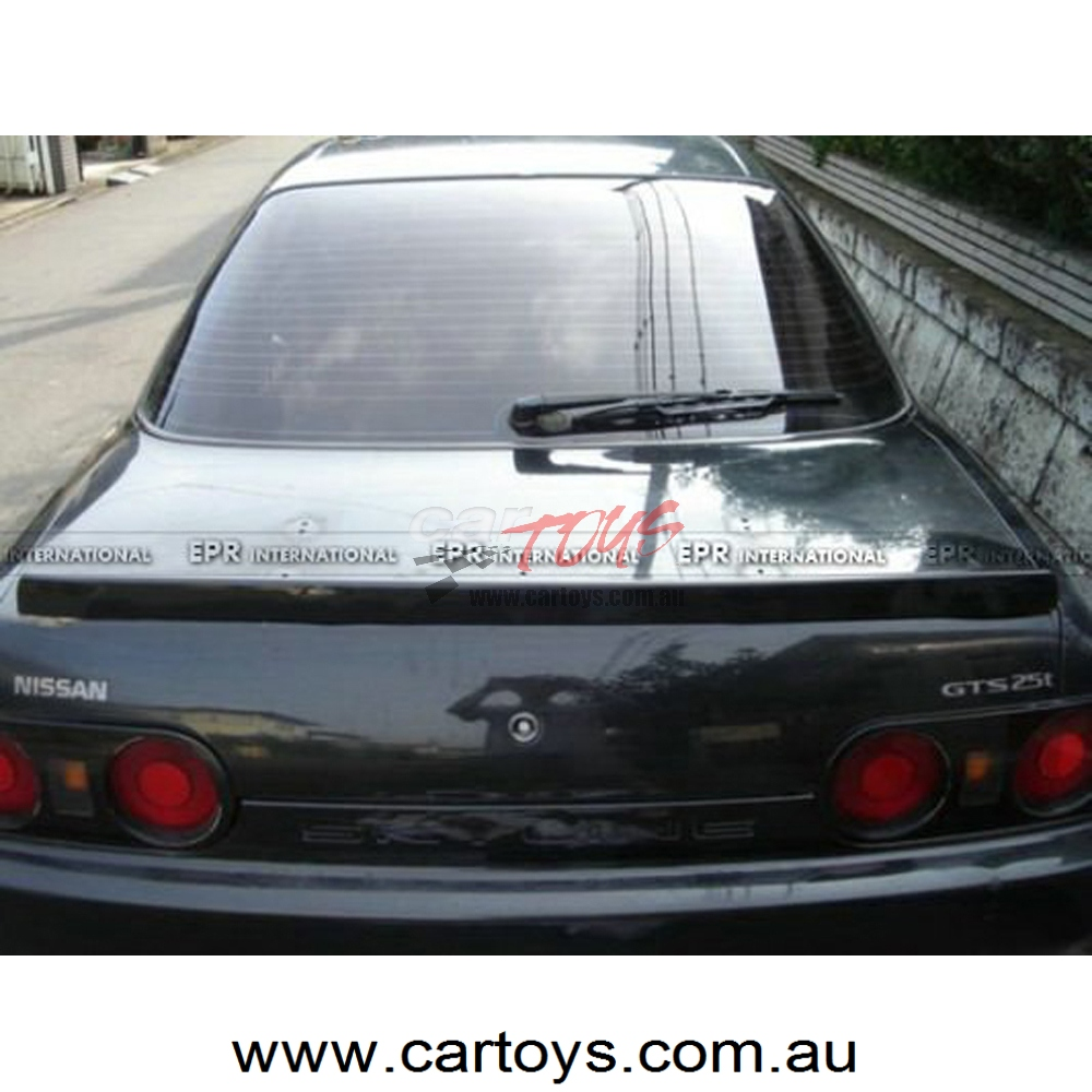 Nissan R32 GTS GTR Nismo Style Carbon Fiber Trunk Spoiler Glossy Finish  Rear Wing Lip Tuning Ducktail Trim