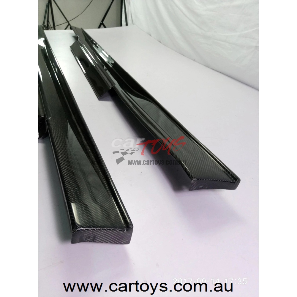 Nissan R35 GTR CBA DBA Carbon Fiber Nismo Ver2 Style Side Skirt Glossy  Fibre Finish Extension Racing Accessories