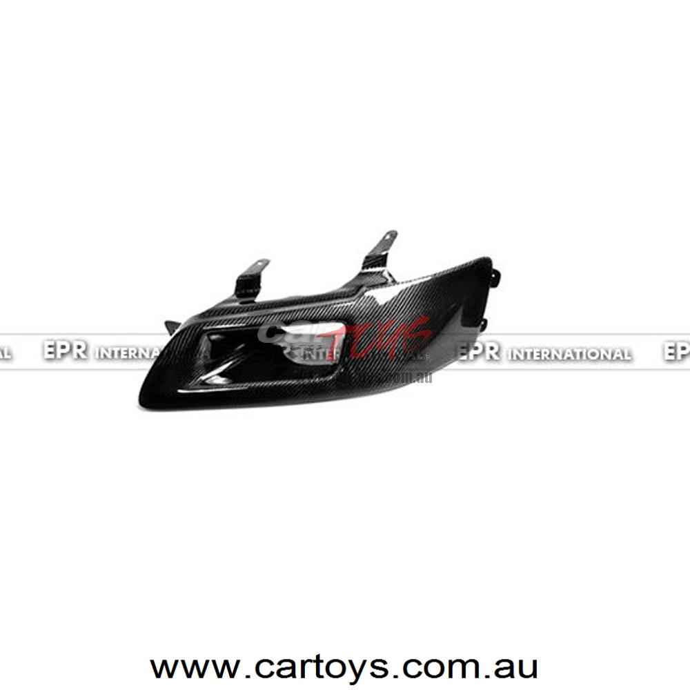 Mitsubishi Evolution EVO 7 8 9 Carbon Fiber Block Out Headlight LHS