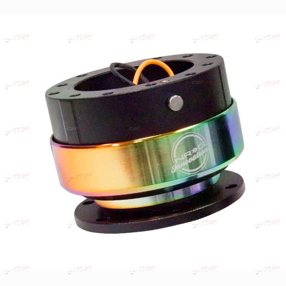 NRG Quick Release Kit Gen 2 SRK-200BK-MC Black body Neochrome ring