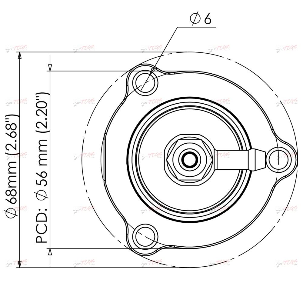 Turbosmart Turbosmart Blow Of Valve Bov Kompact Shortie Dual Port Ts 0203 1061