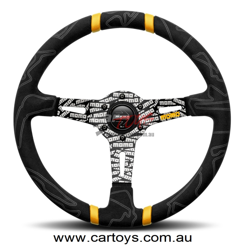 MOMO ULTRA BLACK 350mm Leather steering wheel